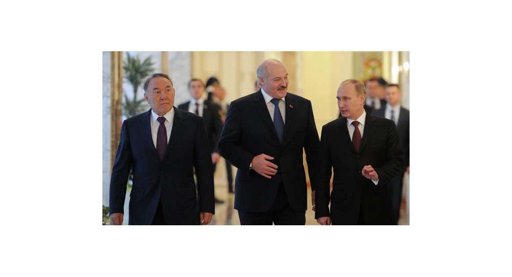 Назарбаев, Лукашенко, Путин