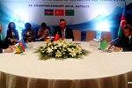 Встреча главы МИД Азербайджана, Турции и Туркменистана