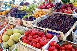 Greek fruit and vegetables market