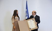 Вице-президент Фонда Гейдара Алиева Лейла Алиева в главном офисе FAO в Риме