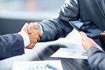 Деловая встреча бизнесменов