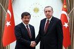 Türkiyənin baş naziri Əhməd Davudoğlu və prezidenti Rəcəb Tayyib Ərdoğan