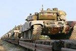 Бронетехника ВС Азербайджана доставлена в районы боевых учений.