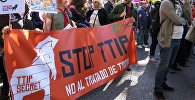 Акции протеста против соглашений о трансатлантической торговле в Европе