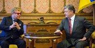 Elton Con və Ukrayna prezidenti Pyotr Poroşenko