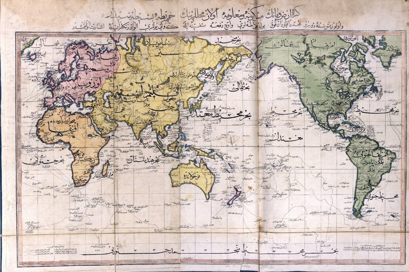 1803-cü ildə Osmanlı imperiyasının dünya xəritəsi