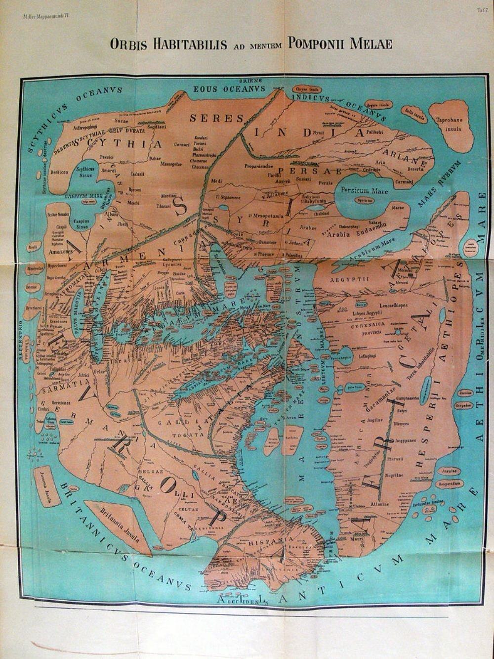 Romalı Pomponi Melanın xəritəsi