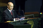 В.Путин во время выступления на сессии Генассамблеи ООН