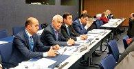 Председатель ЗАО «Азербайджанские железные дороги» Джавид Гурбанов на заседании ассамблеи Межправительственной организации по международным железнодорожным перевозкам в Берне
