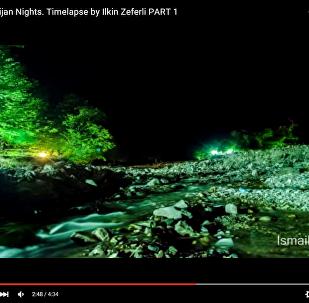 Азербайджанские ночи: восход и заход Луны