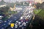 пробка на трассе Баку-Сумгайыт
