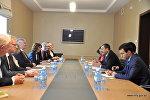 Встреча заместителя министра иностранных дел Азербайджана Халафа Халафова с делегацией Германии