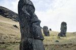 Памятники древнейшего полинезийского искусства - каменные изваяния - моаи