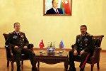 Встреча министра обороны Азербайджана Закира Гасанова и начальника генштаба ВС Турции Хулуси Акара