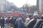 Митинг в память жертв теракта в Анкаре