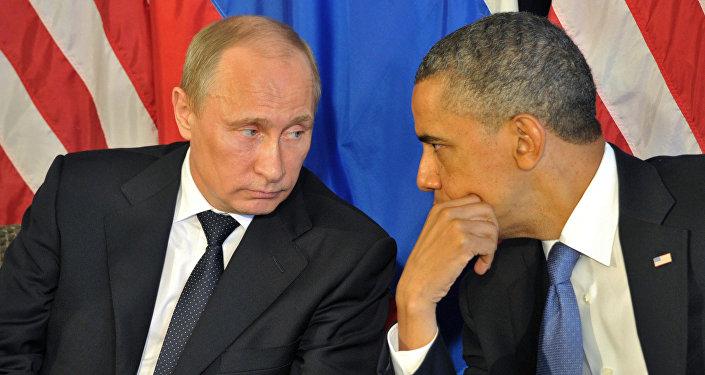 Vladimir Putin və Barak Obama