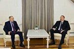 Президент Ильхам Алиев на встрече с заместителем председателя Совета федерации РФ Ильясом Умахановым