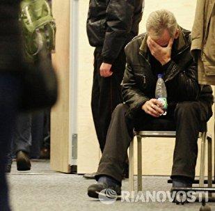 Родственники погибших в Пулково скорбят по близким.