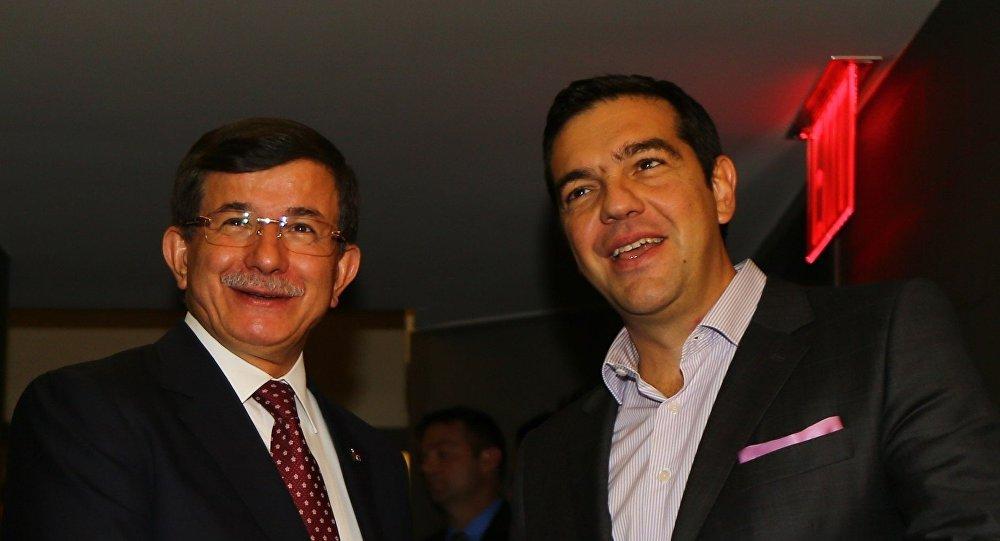 Əhməd Davudoğlu və Aleksis Tsipras