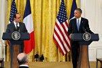 ABD Başkanı Barack Obama ve Fransa Cumhurbaşkanı François Hollande