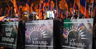 Митинг и шествие оппозиционного фронта «Новая Армения» проходит в Ереване