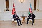 Türkiyənin baş naziri Əhməd Davudoğlu və Azərbaycan prezidenti İlham Əliyev