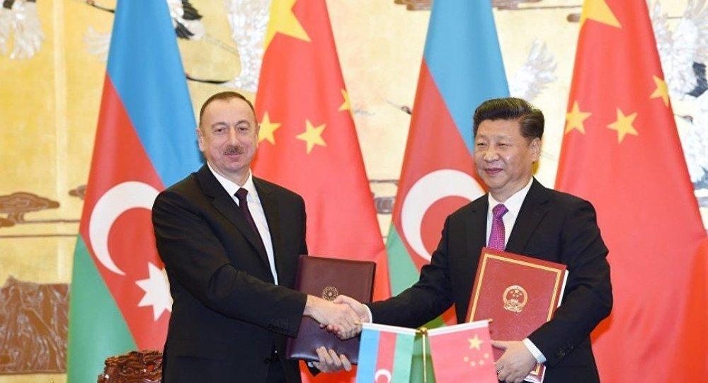 Президент Ильхам Алиев и председатель КНР Си Цзиньпин