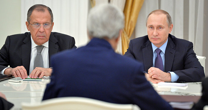 Встреча президента РФ В.Путина с госсекретарем США Д.Керри