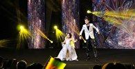Выступление азербайджанского дуэта на конкурсе