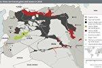 İŞİD-in itirdiyi ərazilərin xəritəsi