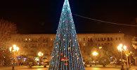 Новогодняя елка в Баку, архивное фото