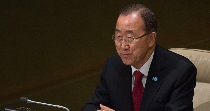 Генеральный секретарьООН Пан Ги Мун