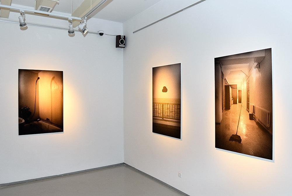 Работы Оли Кройтор на выставке в Баку