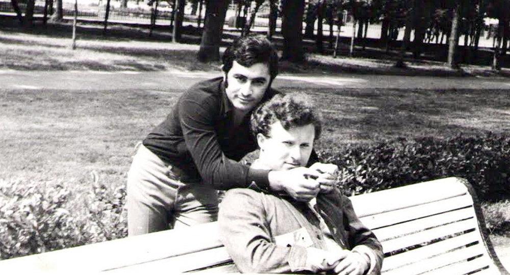 Я и В. Хмарин. Cтуденческие годы.