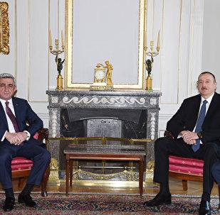Встреча президентов Азербайджана и Армении, фото из архива