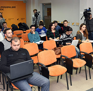 Журналисты в пресс-центре