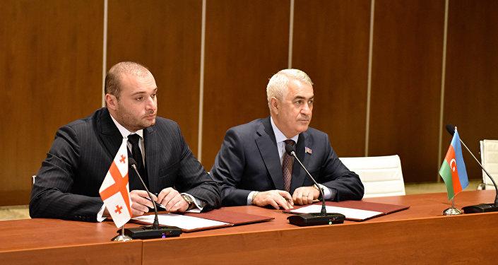 Подписание протокола между Азербайджаном и Грузией