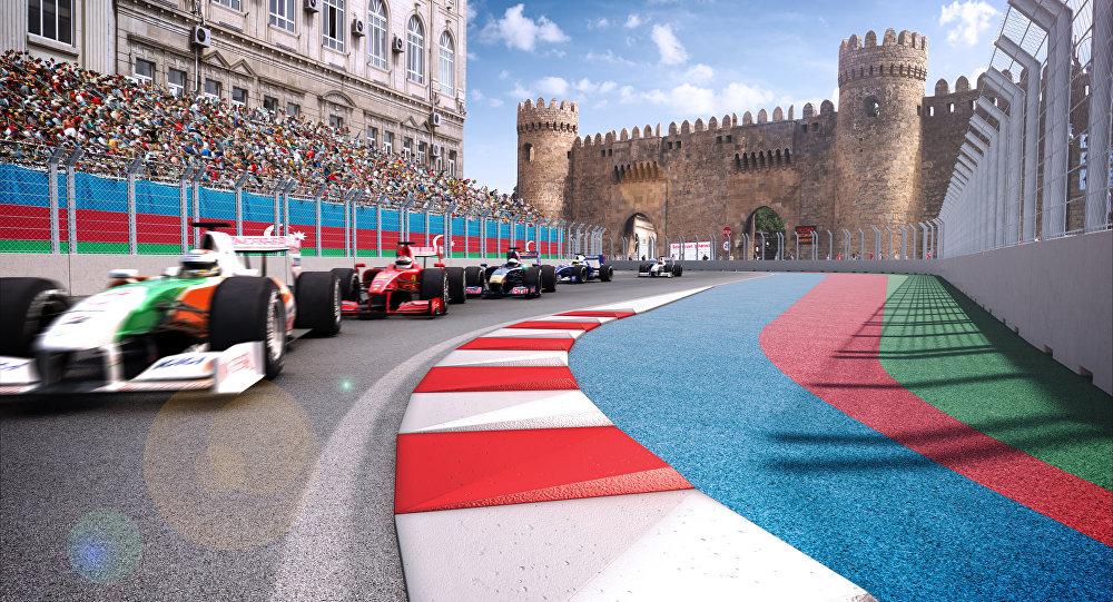 Участок трассы Бакинского этапа гонок Формулы 1