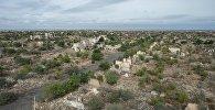 Город Агдам, полностью разрушенный во время войны