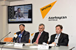 Пресс-центр Sputnik Азербайджан, видеомост Москва – Астана – Баку 27.01.2016