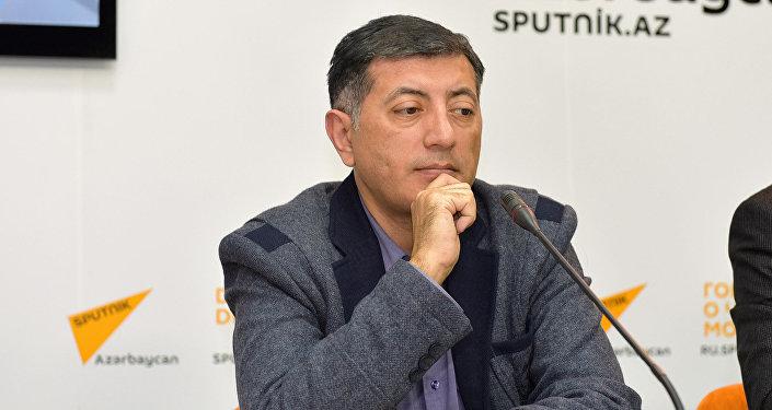 Эксперт-экономист Ильхам Шабан в пресс-центре Sputnik Азербайджан