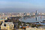 Вид на центр Баку с высоты Нагорного парка