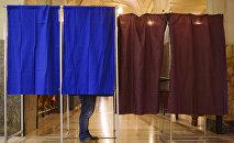 Выборы. Кабинки для голосования