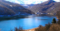 Зима на голубом озере Азербайджана