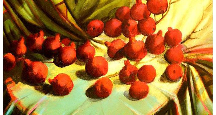 Плод граната Али Шамси сравнивает с женщиной