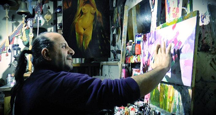 Али Шамси признается, что если бы он не стал художником, то точно был обладателем гарема