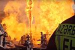 Пожар на платформе Гюнешли. Архив