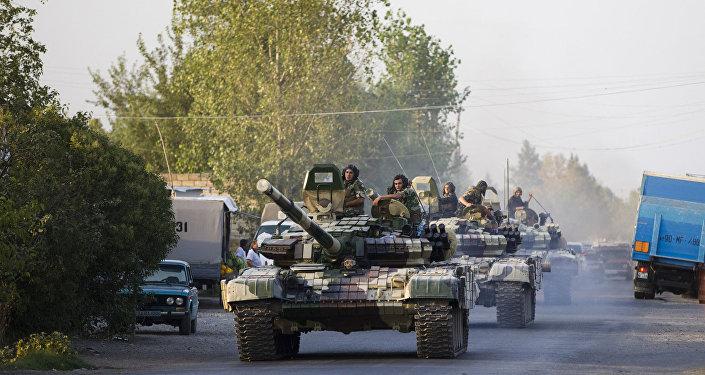 Ağdamda Azərbaycan tankları