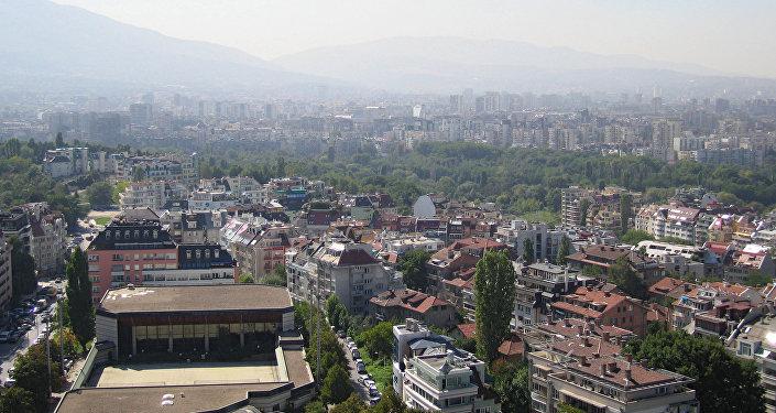 Вид столицы Болгарии Софии, фото из архива