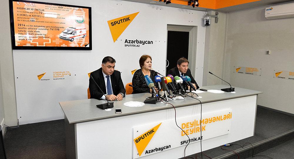 Афаг Алиева в Международном пресс-центре Sputnik